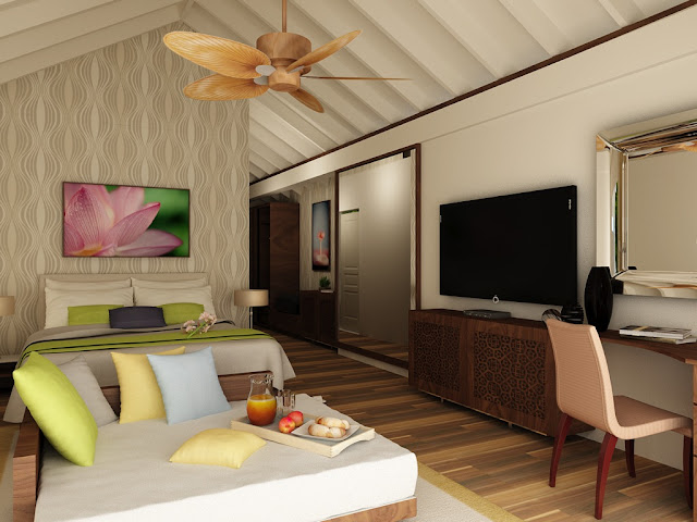 Hondaafushi Island Resort, Deluxe Beach Bungalow, Interior