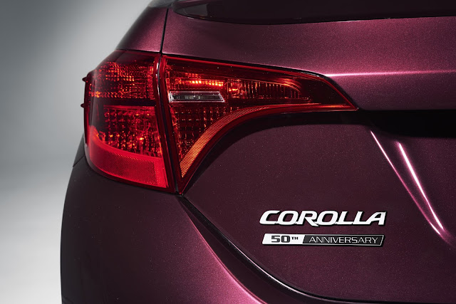 Rear trunk badging for 2017 Toyota Corolla 50th Anniversary Special Edition