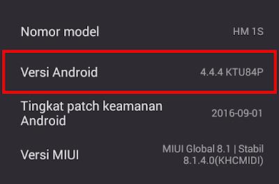 Cara Mengetahui Versi SO Android di HP Xiaomi 8