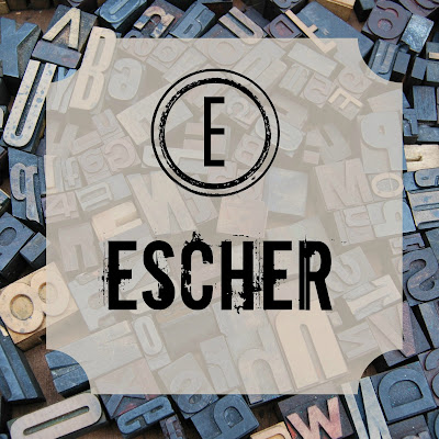 M.C. Escher - Blogging Through the Alphabet on Homeschool Coffee Break @ kympossibleblog.blogspot.com  #ABCBlogging  #art