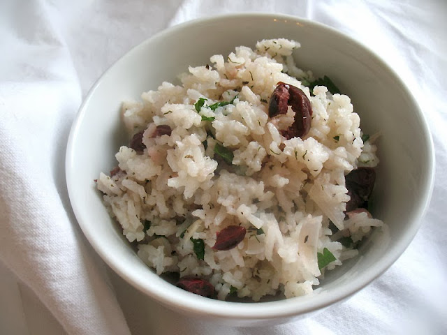 Greek Rice with Lemon and Olives