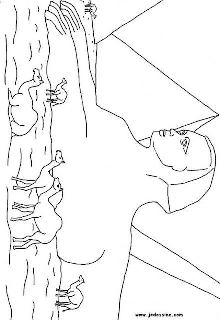 Egipto, dibujos para colorear