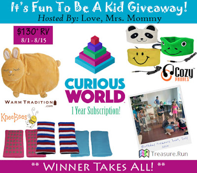 Enter the It's Fun To Be A Kid Giveaway. Ends 8/15