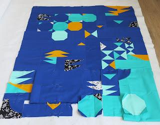 Luna Lovequilts - Improv quilt - Work in progress