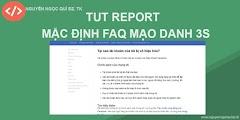 TUT REPORT MẶC ĐỊNH FAQ MD DIE 3S - NNQ