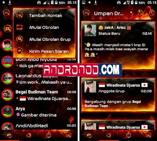 Download BBM Mod Droid Chat! Legend Of Fire v3.0.0.18 Apk Terbaru