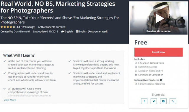 [100% Free] Real World, NO BS, Marketing Strategies for Photographers