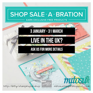 Earn FREE products with Stampin' Up! Sale-A-Bration Offer from Mitosu Crafts UK Online Shop