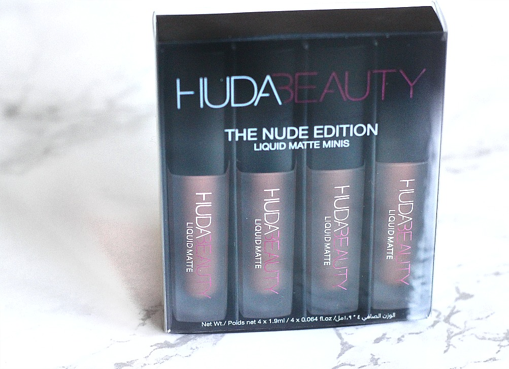 Huda beauty liquid matte minis nude edition