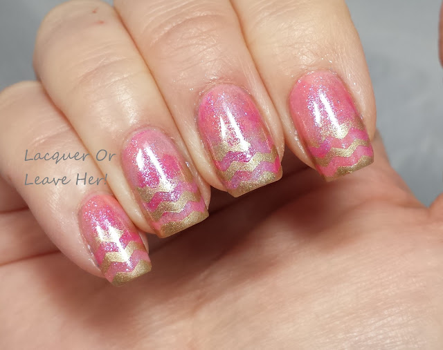 Easter chevron seriotype with Born Pretty Store chevron tape and Zoya Petals polishes