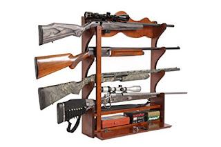 Four Gun Horizontal Wall Rack