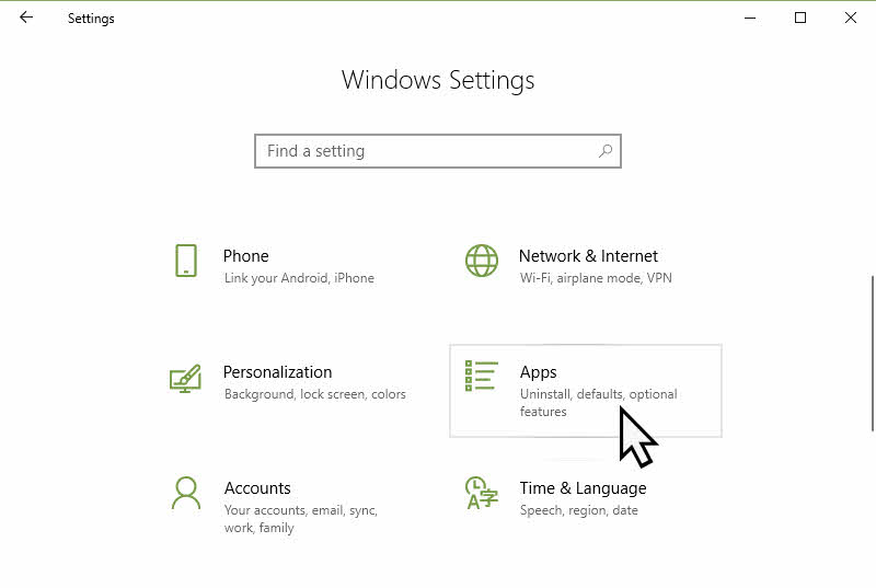 Windows 10 App Settings Page to control the Startup Settings in Windows 10 April 2018 Update version 1803