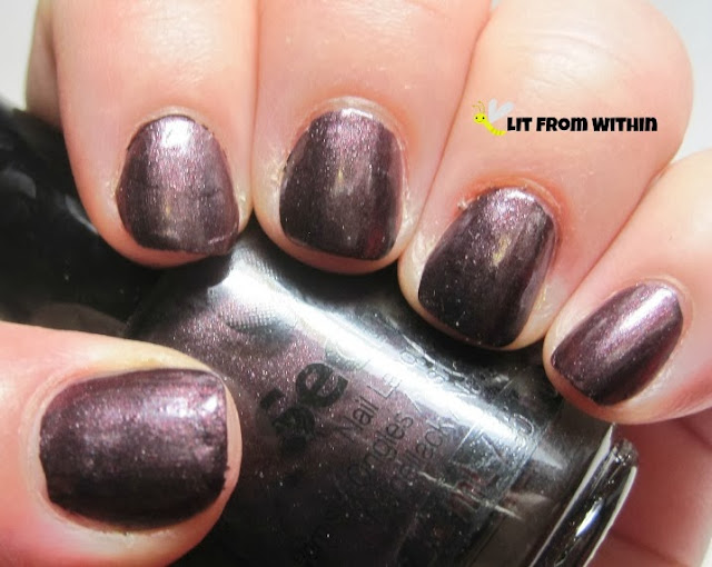 deep, dark, metallic eggplant is called Seche Aristocrat.