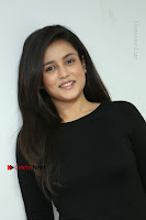 Telugu Actress Mishti Chakraborty Latest Pos in Black Top at Smile Pictures Production No 1 Movie Opening  0233.JPG