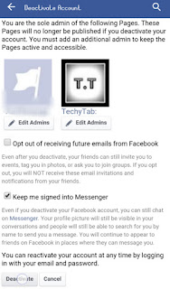 remove facebook account