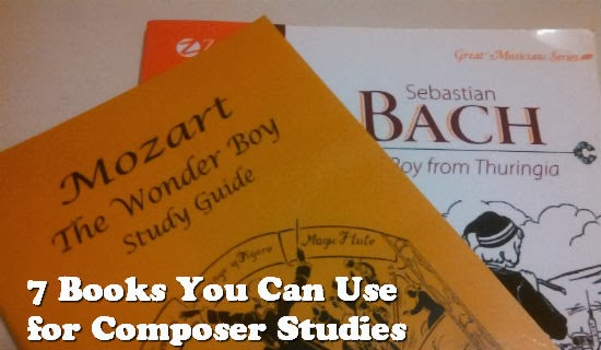 A list of 7 living books to help you with composer studies in your homeschool.