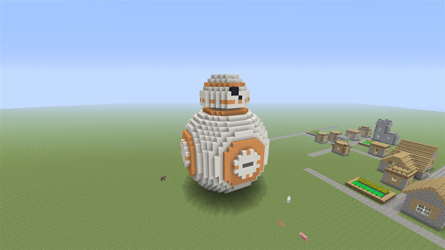 pixel art en minecraft de bb8