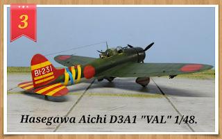 """Hasegawa Aichi D3A1 """"VAL"""" au 1/48"""