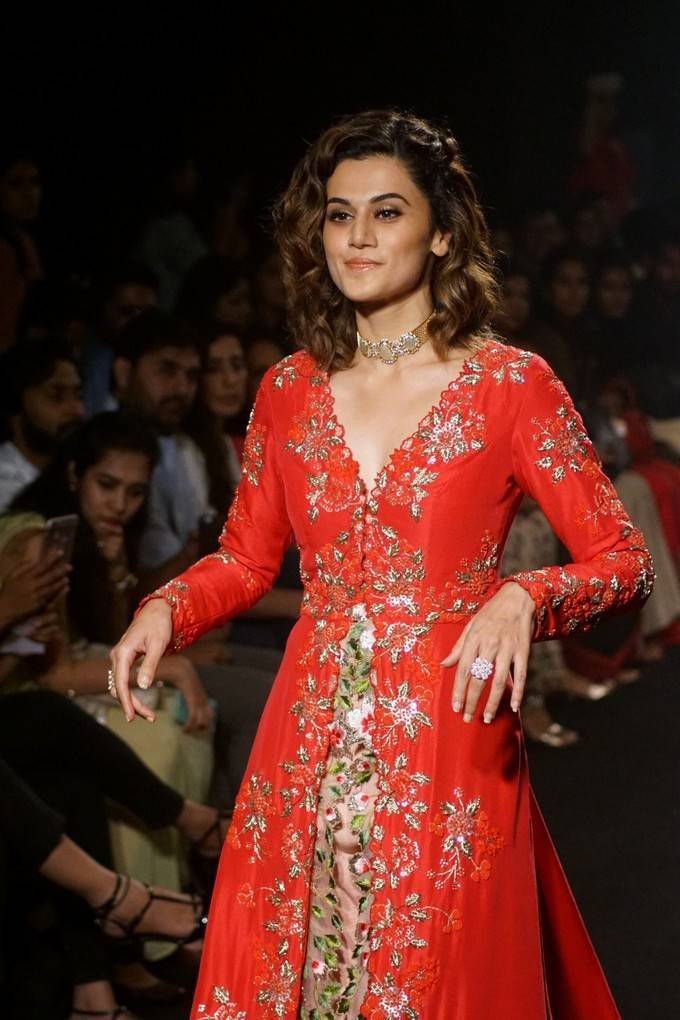 Taapsee Pannu At LFW Winter Festive 2017 Event Stills