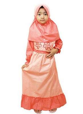 Baju anak perempuan muslim elegan dan modis