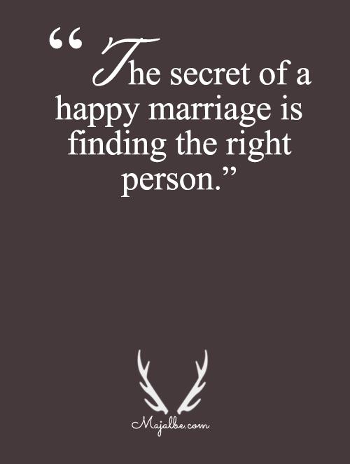 Secret Of Happy Marriage