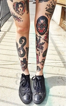female thigh tattoos designs