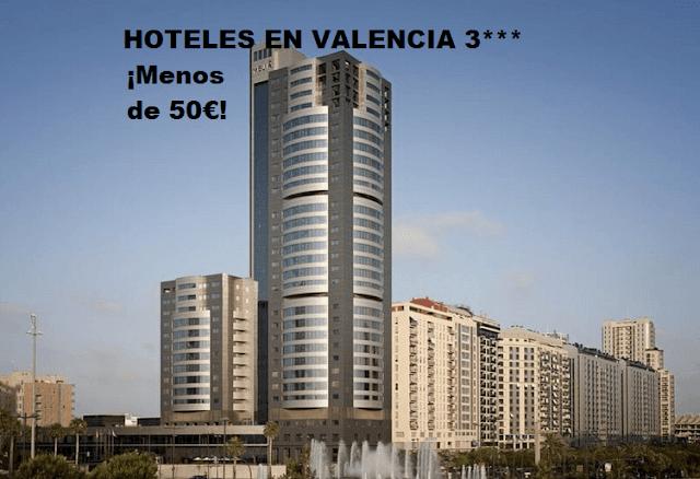 5 hoteles baratos 3 estrellas en Valencia