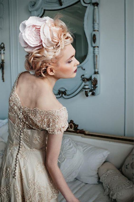 robes de mariées et coiffures d'inspiration Marie-antoinette , Vanessa Lekpa
