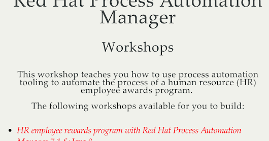 Modern Process Integration Tooling Workshop - Lab 1 Installing Process Automation Manager