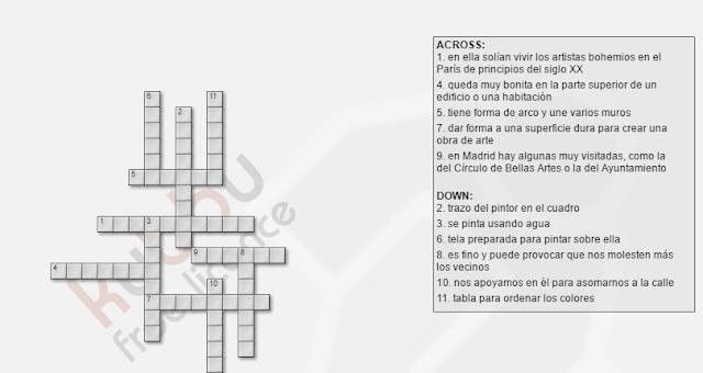 vocabulario español arte