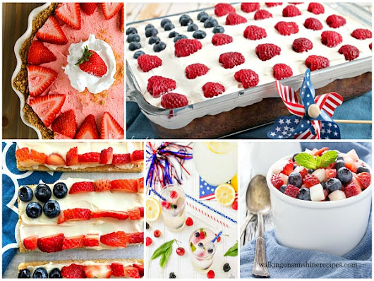 Party - Red, White and Blue Patriotic Desserts - Foodie Friends Friday Linky Party #248