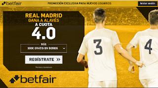betfair supercuota victoria del Real Madrid al Alaves 23 Septiembre
