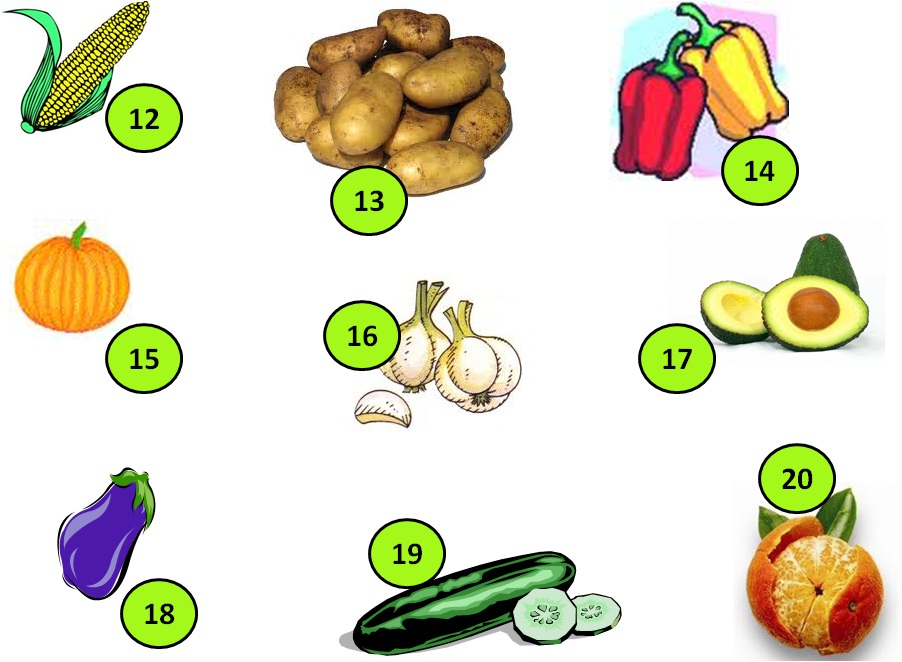 TE CUENTO UN CUENTO: Frutas y verduras (Crucigrama)