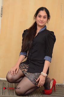 Telugu Actress Priyanka Pallavi Stills in Micro Mini Skirt at Nenosthaa Movie Song Launch at Radio City  0049.JPG
