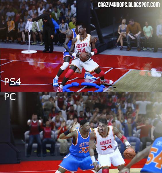 NBA 2k14 PC vs PS4 Comparison : Patrick Ewing #33 vs Hakeem Olajuwon #34