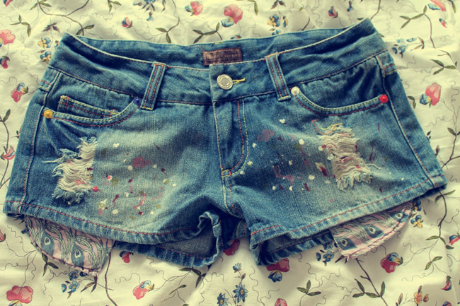 oasap shorts denim shorts exposed pocket