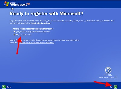 register microsoft windows xp di komputer