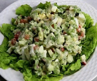Homemade hard boiled egg salad recipe