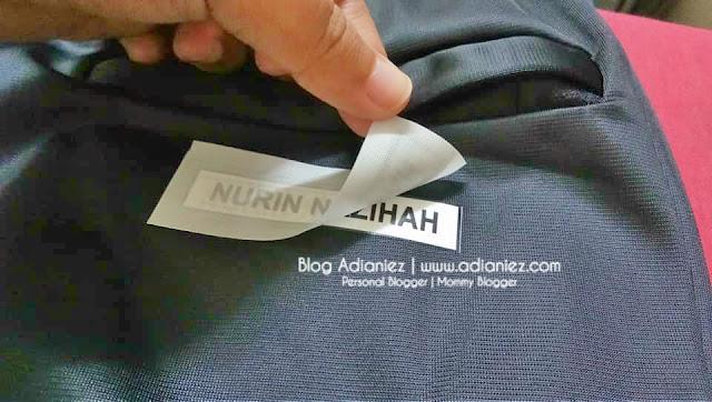 Label Nama Iron-On Di Baju ::: Permudahkan & Memudahkan