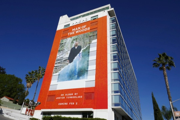 Justin Timberlake Man of Woods billboard
