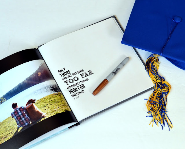 senior graduation photo guest book