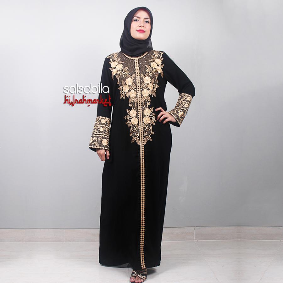 082125080219 Distributor Gamis Hitam Model Saudi Abaya Arab