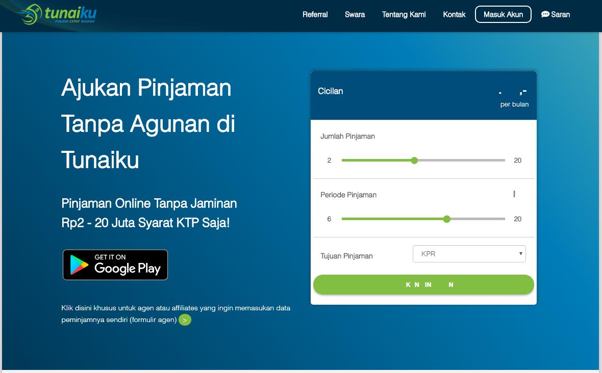Aplikasi Pinjaman Online Tunaiku Pinjol