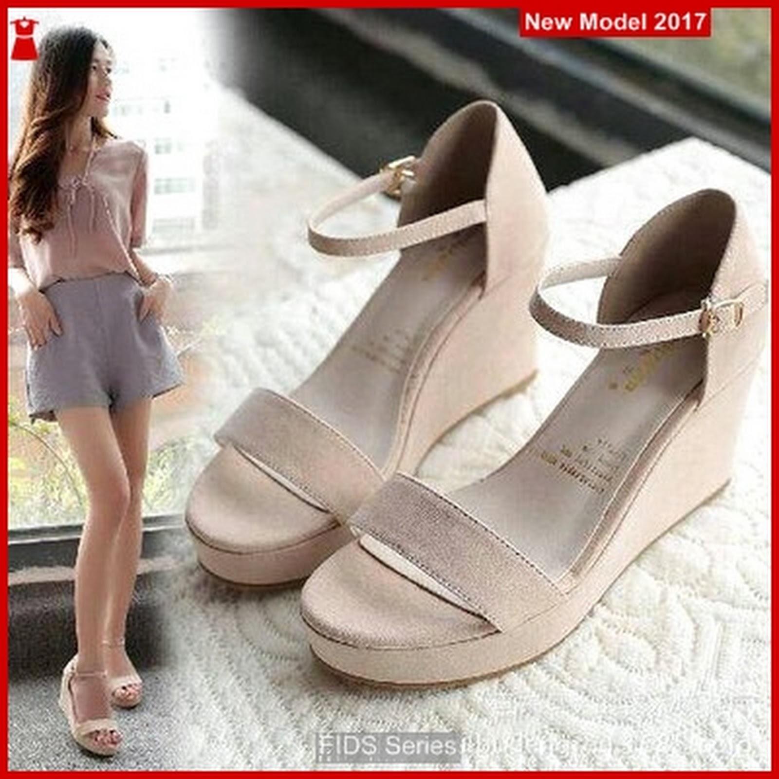 FIDS041 Sepatu Wanita Sandal Wedges Donatello BMG 998e6eca75