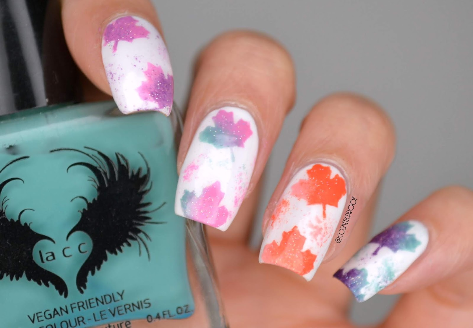 Nails Canada Day Cbbxmanimonday Cosmetic Proof Vancouver