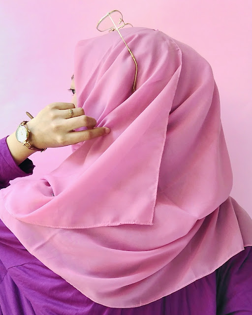 tutorial hijab square
