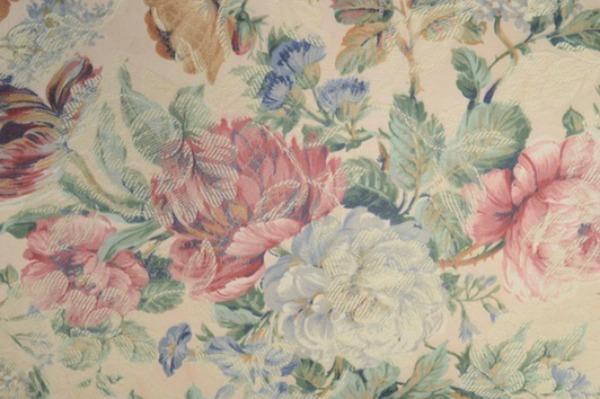 English chintz floral pink blue