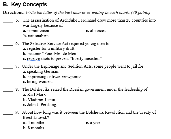 u.s. history essay questions Suggested essay topics and study questions for history sparknotes's the vietnam war (1945–1975) perfect for students who have to write the vietnam war.