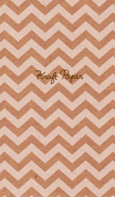 Kraft paper-White zigzag-