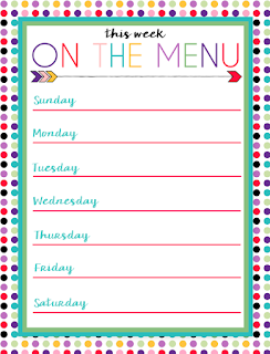 Free Printable Menus: Three Designs | Perfect to laminate and use with dry erase for a weekly menu plan.
